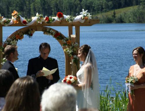 Huwelijk aan het meer